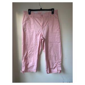 Lee| comfort waist Pink cotton capris size 10